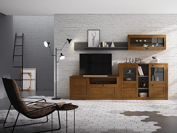 Muebles de sal n en valladolid tienda con salones en for Salones mezcla clasico moderno