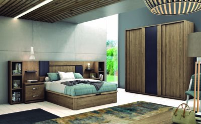 Dormitorio con decoración de grafito