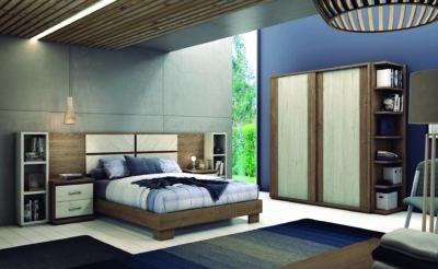Dormitorio con decoración moderna