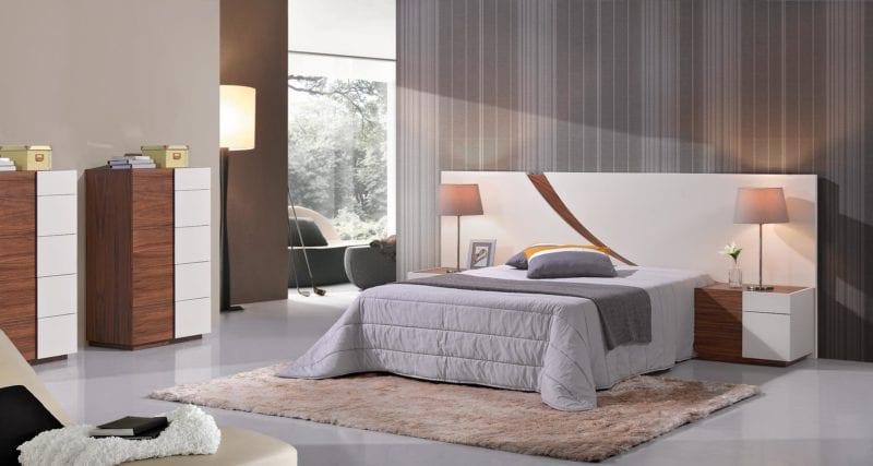 Dormitorio moderno en tonos grises