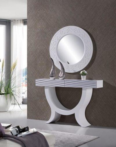 Recibidor modern blanco, decoración en Valaldolid